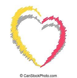Scribble Heart Frame