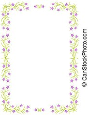 Floral border  - Border with violet flowers