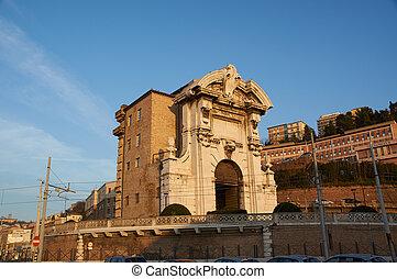 Beautiful Italian port embankment , Ancona, Marche -...