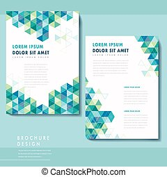 abstract poster template design with triangle pattern