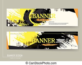 stylish banner template design