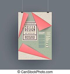 modern paper texture poster template design set