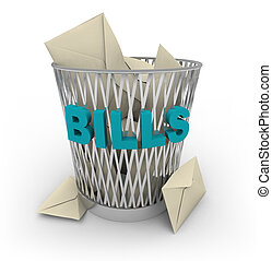 Trash Can for Bills - Rid yourself of your bills -- throw...
