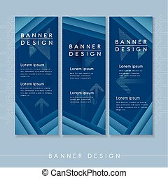 modern banner template design with streak element in blue