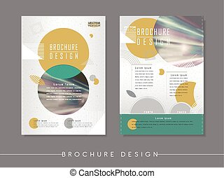 modern abstract poster template design with circle elements