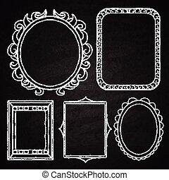 Hand drawn frames.