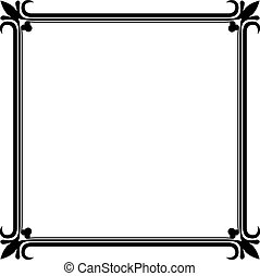 Black and white vintage frame vector template