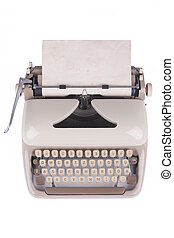 Old german type writer with old paper