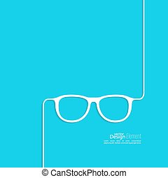Geek glasses icon Hipster and nerd style for mobile apps,...