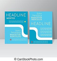 vector, folleto, plantilla, diseño,