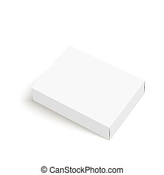 Package white box on a white background vector