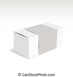 Package white box on a white background. vector. Realistic...