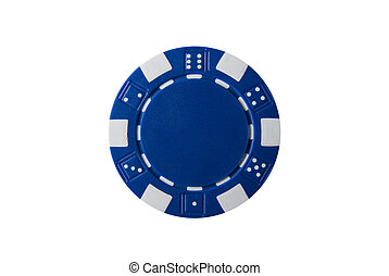 Poker Chip - a blue poker chip