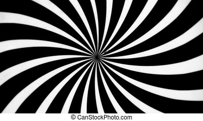Black and White Spiral Spinning Left. Video background for a...