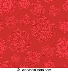 Seamless snowflakes background. Vector EPS10.