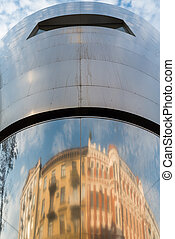 Reflections - building ref;ect on a metal building