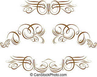 titling frame - Ornate Scroll Vector Scroll, cartouche,...