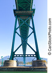 Green Metalic Lions Gate Bridge - Vancouver, Canada - Green...