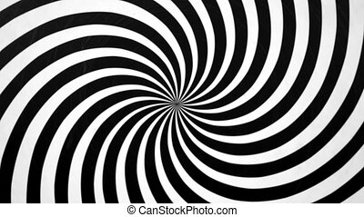Black and White Spiral Spinning Right. Video background for...