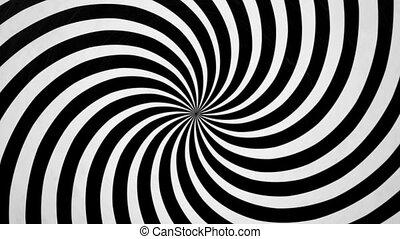 Black and White Spiral Spinning Left Video background for a...