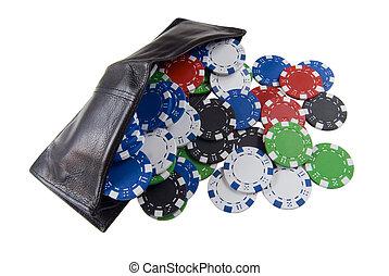 Wallet full of poker chips - A Wallet full of poker chips