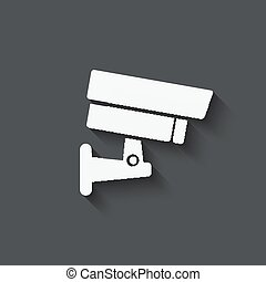 security camera symbol - vector illustration eps 10