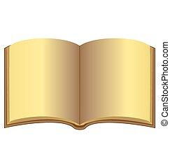 Golden open book