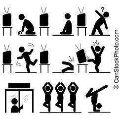 Yoga icons story of the path to success training isolated on whi