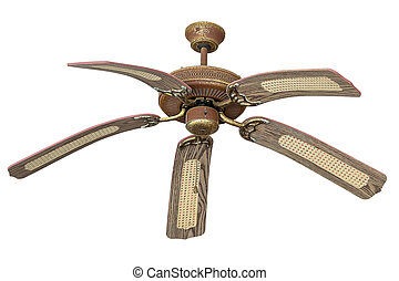 Ceiling fans which is made of vintage wood.