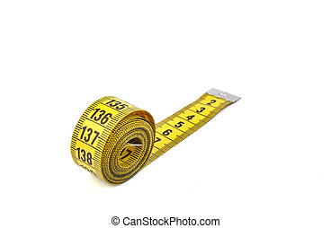 Tape measure on a bright background
