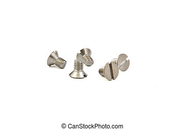 Flat screw - Grey flat screw on bright background