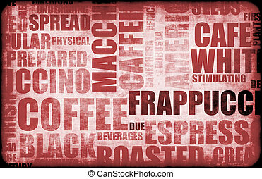 Red Coffee Background - Red Coffee Menu Beverage as a Art...