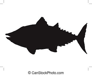 tuna - black silhouette of tuna