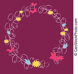 Frame ornaments with flowers - Is a EPS 10 Illustrator file...