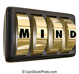 Mind Word Dials Lock Away Memory Ideas Safe Secure Unlock Potent