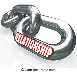Relationship 3d Word Chain Links Family Partnership Together