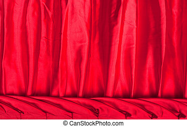 Red fabric silk texture for background
