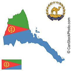 State of Eritrea Flag - Flag and national coat of arms of...