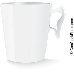 White cup template for marketing Illustration made in vector...