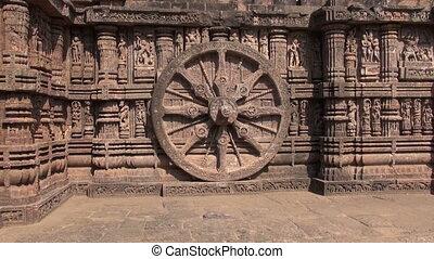 Hindu Temple Konark, Odisha, India - beautiful carvings on...