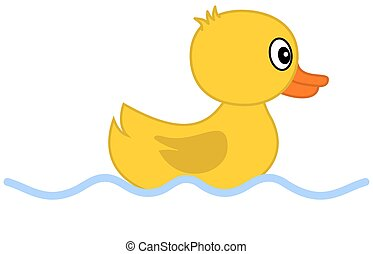 EPS Vectors of Swimming Duckling - Clip-art illustration of the ...