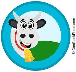 cow in a logo
