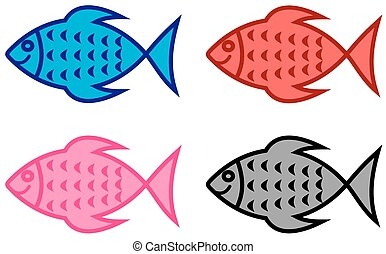 series of fish for fish shop