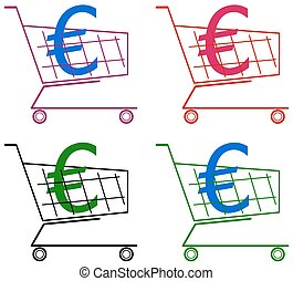 cart with euro