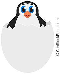 penguin in an egg