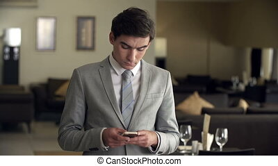 Smartphone for Business - Businessman using smartphone