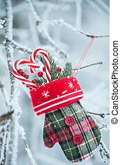 Greeting card with Christmas stuff - Christmas card with...