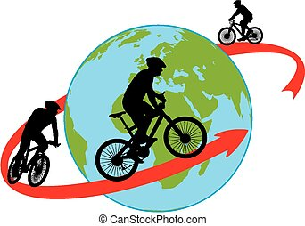 bike, cyclists - cycling around the world