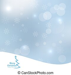 Abstract Winter Background with beautiful various snowflakes...