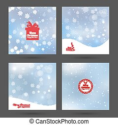 Abstract Winter Background - Set Abstract Winter Background...